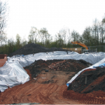 Custom installation of a large root barrier