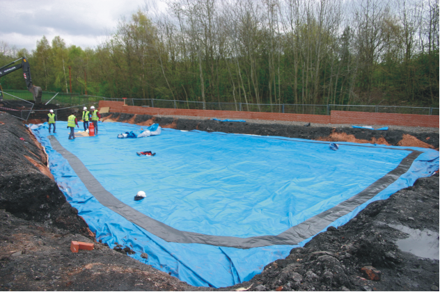 completing the Root Barrier seal in custom installation
