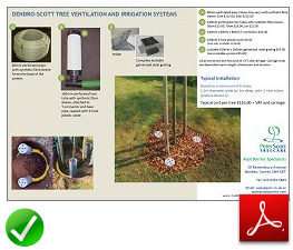 Tree Ventilation and Irrigation Information