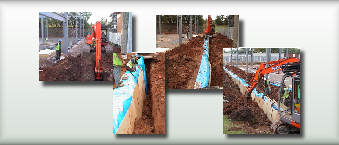 Vertical installation of Root Barrier