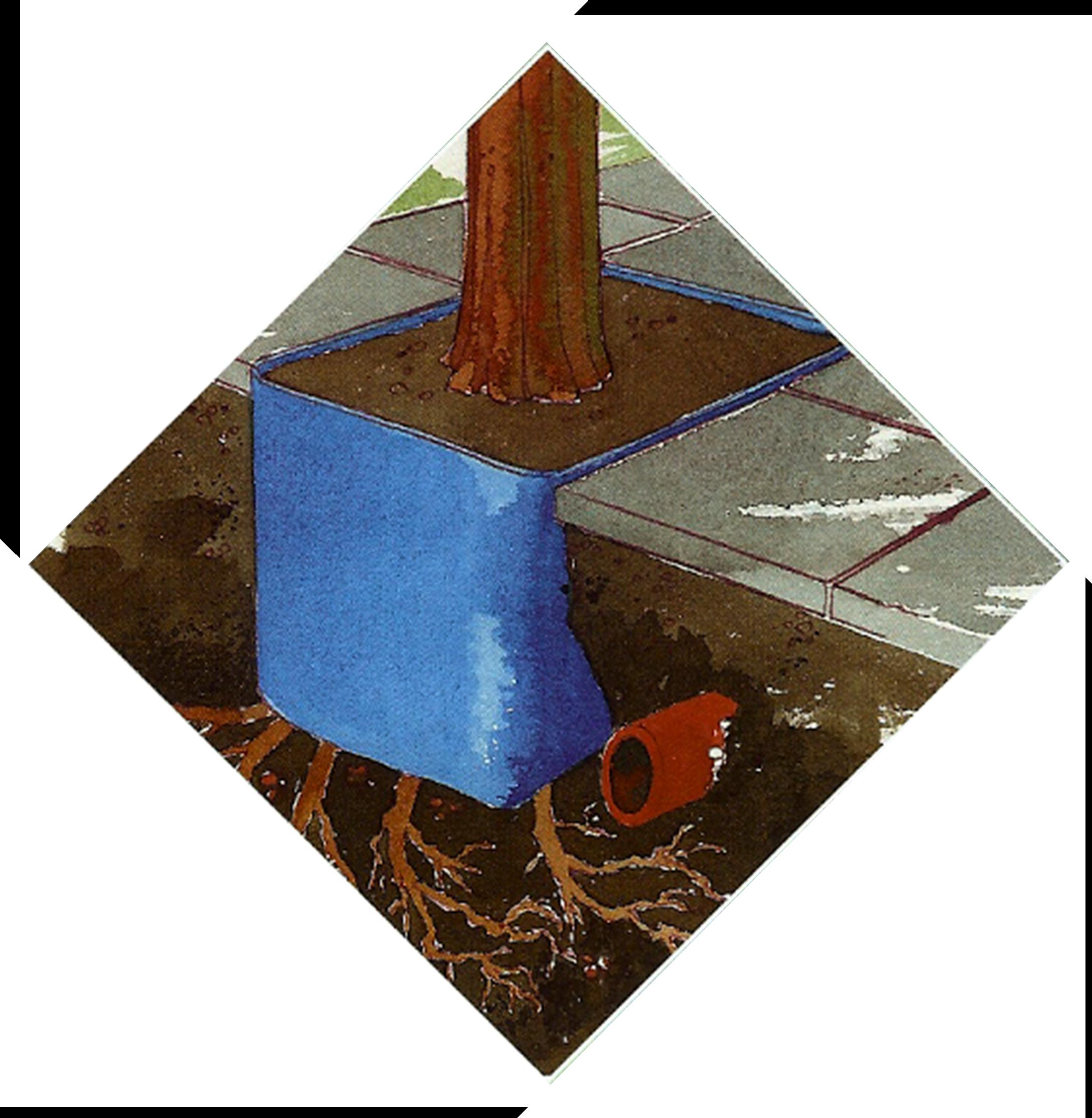 Blue Tree Pit Liner