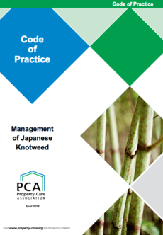 PCA code of practice, Management of Japanese Knotweed